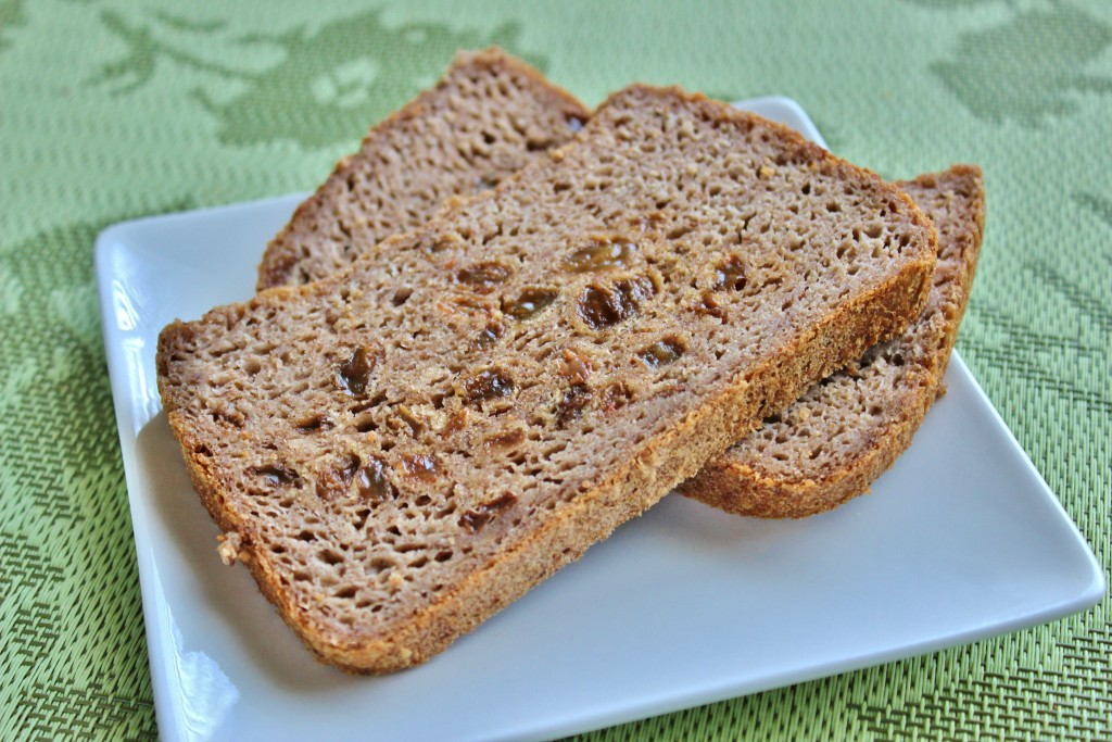 Homemade whole grain cinnamon raisin bread